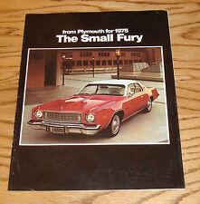 Original 1975 Plymouth Fury Sales Brochure 75