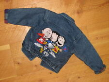 BABY 6-9  MONTHS PEANUTS UNITED CHARLIE BROWN SNOOPY GANG * LINED DENIM JACKET