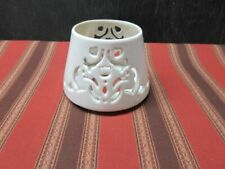 "Home Interiors Candle Shade / Topper - winter motiff, Ceramic - 5.25"" Diameter"