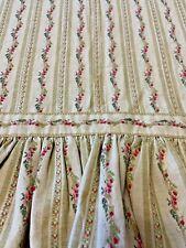 Vintage Ralph Lauren Standard Pillow Case Ruffle Embroidered Vine of Posies Tan