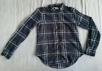 Hollister Women's Dark Blue Plaid Flannel Shirt Size XS New With Tags