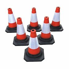 "Pack of 6 Road Traffic Cones 18"" 450mm Self Weighted Safety Cone"