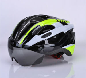 4 Colors Unisex Adult Bike Helmet with Removable Magnetic Visor Cycling Helmets