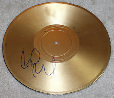 PEARL JAM GUITARIST MIKE MCCREADY HAND SIGNED AUTHENTIC GOLD RECORD w/COA