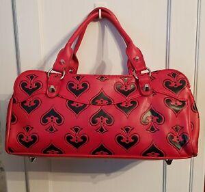 Lux deville Red Black Spades Rockabilly pinup Psychobilly Bag