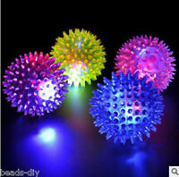 BD Flashing Light Up High Bouncing Balls Novelty Sensory Hedgehog Ball Toys
