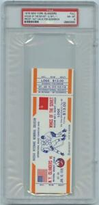 New York Islanders Wings Of The Soviet 1976 Super Series PROOF Ticket PSA 8 NMT