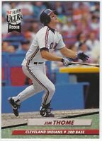 """1992 FLEER ULTRA JIM THOME """"ROOKIE"""" RC #54 CLEVELAND INDIANS!"""