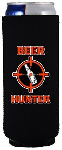 Beer Hunter 12 oz. Slim Can Coolie; Compatible with Ultra