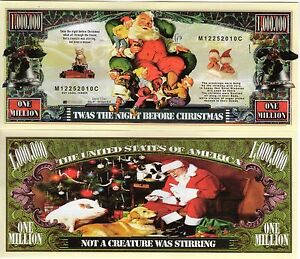 Twas the Night Before Christmas Million Dollar Novelty Money