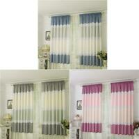 Geometry Semi Blackout Curtains Home Bedroom Window Decor Tulle Sheer Drape K1B