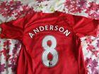 Anderson #8 Manchester United Home Shirt 2008-09 small *read description*