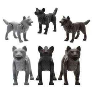 Playmobil Knight Animal Park Forest Animals Wolf Wolves Grey Black Braun