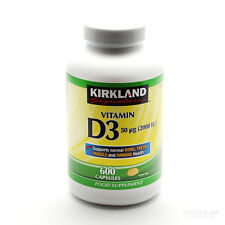 New Kirkland Signature Vitamin D3 2000 I.U. 600 Pillole