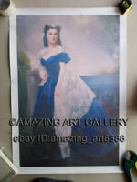 Actress Vivien Leigh Scarlett O'Hara Gone With The Wind Oil PRINT Blanche DuBois
