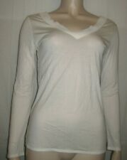 Massimo Dutti off white casual top-t-shirt size XS