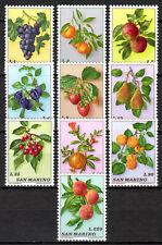 San Marino - 1973 Fruits - Mi. 1031-40 MNH