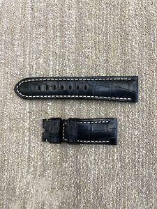 Authentic Officine Panerai 26mm x 22mm Alligator Black Watch Strap Band OEM