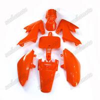 Orange Fairing Plastic Fender Kit For Honda SSR CRF XR XR50 CRF50 Pit Dirt Bike