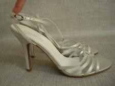 RIVER ISLAND UK 7 SILVER ANKLE STRAP SANDALS