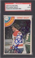 GARNET ACE BAILEY  BRUINS CAPITALS SIGNED 1978-79 OPC HOCKEY CARD SGC SLAB