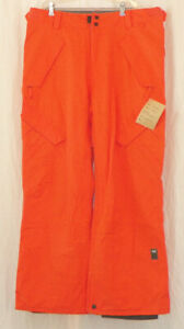 Ride Phinney Mens Shell Classic Fit Snowboard Pants Large Orange Crush New