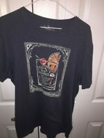 Banana Republic Mens Graphic Tee Blue Heathered Old Fashioned Whiskey Sour L