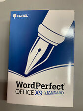 COREL WordPerfect Office X9 Standard BRAND NEW - Unopened - Retail Version