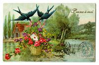 CPA  Fantaisie Pensez à Moi carte relief postcard fantasy