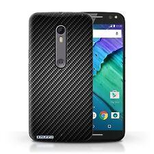 Case/Cover for Motorola Moto X Style / Carbon Fibre Effect/Pattern / Grey