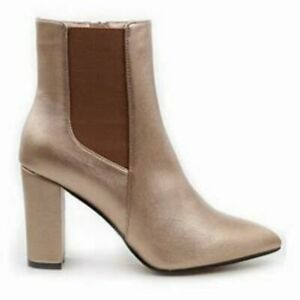 Catherine Malandrino Faux Leather Oliven Rosegold Ankle Boots Women's Sz 9