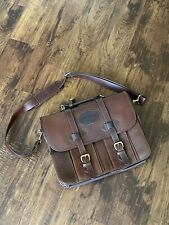Orvis Leather BriefcaseTravel Bag.
