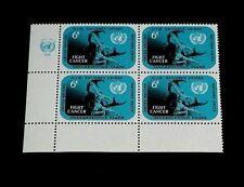 U.N. 1970,New York #207, Fight Cancer, Mnh, Insc. Blk/4, Nice! Lqqk!