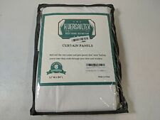"Linen Blackout Curtain 52"" x 84"" for Bedroom/Living Room Thermal White - Open Bx"