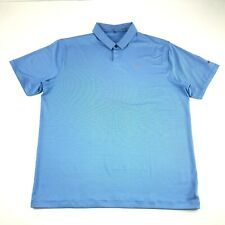 Nike Tiger Woods Collection Mens Blue Striped Athletic Polo Golf Shirt XL