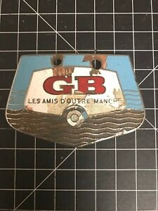 GB Les Amis D'Outre Manche Car Badge