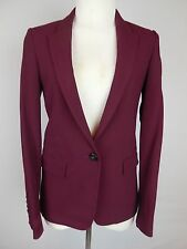 MOSSIMO DUTTI Women's Cranberry Lined Structured Blazer/Jacket Sz36/26(XS) *2200