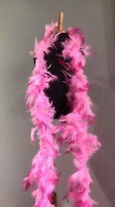 Light/dark Pink  Chandelle Feather Boa, NEW Set Of 12. 7 Feet Long