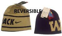 Nike Washington Huskies NCAA Reversible Knit Beanie Hat $27