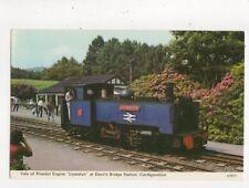 Vale of Rheidol Engine Llewelyn At Devils Bridge Station 1974 Postcard 647a