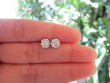 .85 Carat Face Illusion Diamond White Gold Earrings 14k sepvergara