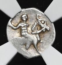 """RUSSIA. Ivan IV """"The Terrible"""", 1533-1584. Silver Denga, NGC AU55"""