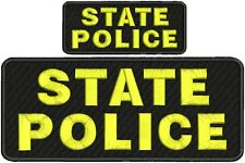 State police embroidery patch 4x10 and 2x5 hook on back