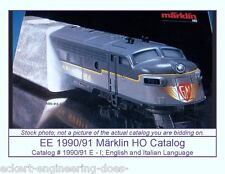 EE 1990/91 E-I Marklin HO Catalog Years 1990 1991 VG Condition Pix of GM EMD F7