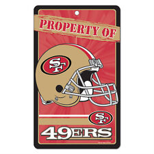 """San Francisco 49ers Property Of Sign 7.25""""x12"""""""
