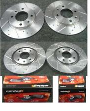 PEUGEOT 205 1.6 1.9GTI CTI BRAKE DISC DRILLED GROOVED MINTEX PADS FRONT REAR