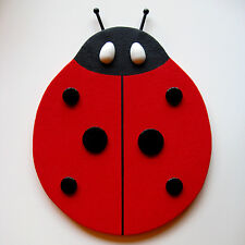 HANDMADE LADYBUG BULLETIN MEMO MESSAGE MEMORY NOTE BOARD & POLKA DOT PUSH PINS
