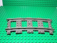 LEGO LEGOS  -  One Section of Train Track  9V  Curve   DARK GRAY