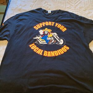 Support Your Local Bandidos Motorcycle Gang Short Sleeve Size 3 XL!