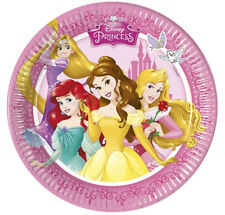 PIATTO PICCOLO PRINCIPESSE DISNEY DIAMETRO CM. 19,5 CONF. 8 PZ. FESTE E PARTY